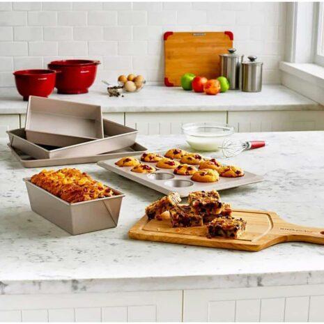 KitchenAid Bakeware 5 Piece Set (Warm Stardust) 4