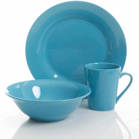 Gibson Home Ceramic 12pc dinnerware set, Red