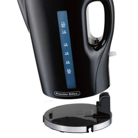 Black Proctor Silex 1.7 Liter Cordless Electric Kettle with base