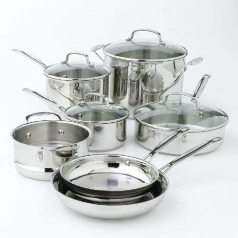 Cuisinart Chef's Classic Stainless 11-Piece Cookware Set – Silver
