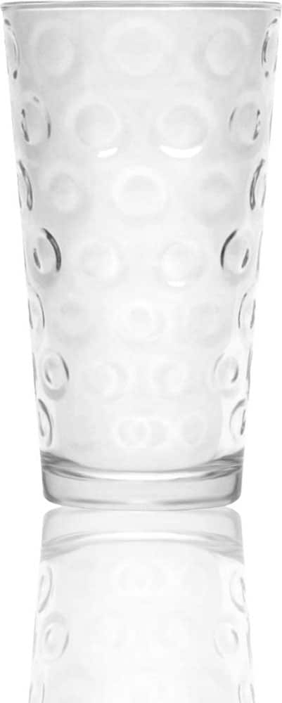 Circleware Double Circle Drinking Glasses Set of 4