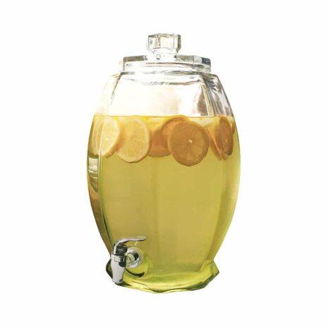 Circleware Cranston Beverage Dispenser with Glass Lid