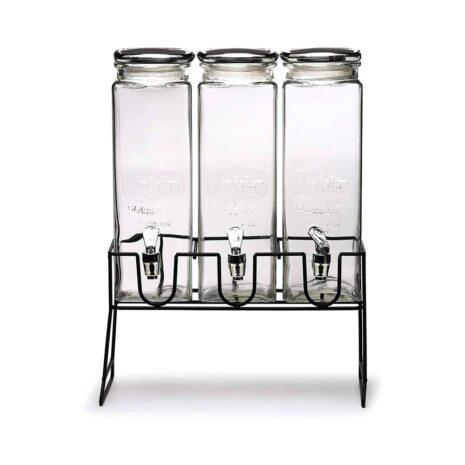Circleware Yorkshire Beverage Stand and Glassware Dispenser