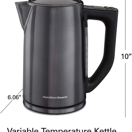Hamilton Beach Temperature Control Electric Tea Kettle
