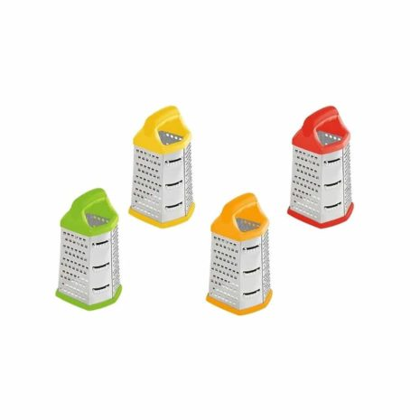 Home Basics Stainless Steel 6 Sided Cheese Grater, Assorted Colours