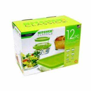 Kitchen Classics Food Storage Set, Tempered Glass, 12-Pc