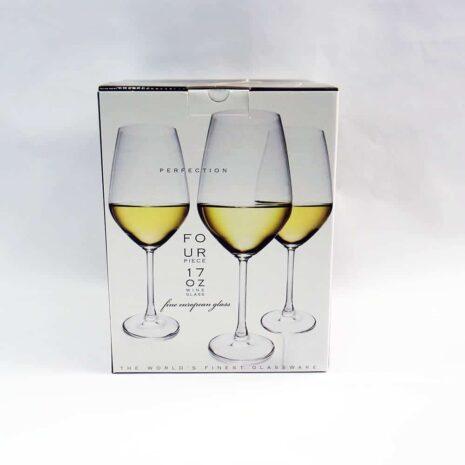 Perfection four piece 17oz wine glass