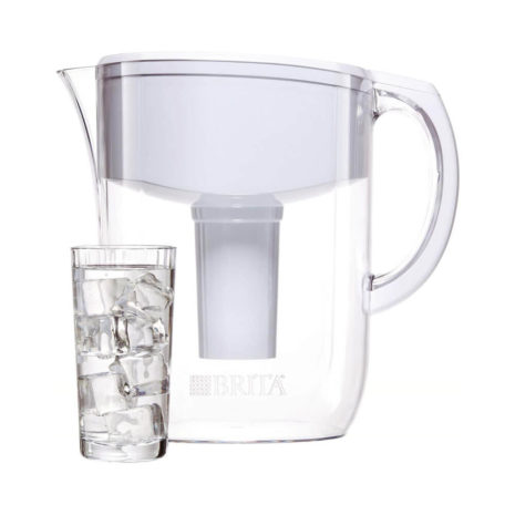 Brita 10 Cup Water Filter Pitcher - White
