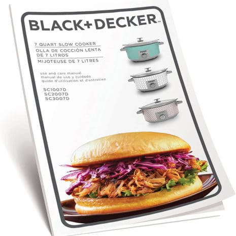 BLACK+DECKER Slow Cooker, 7 quart, Teal