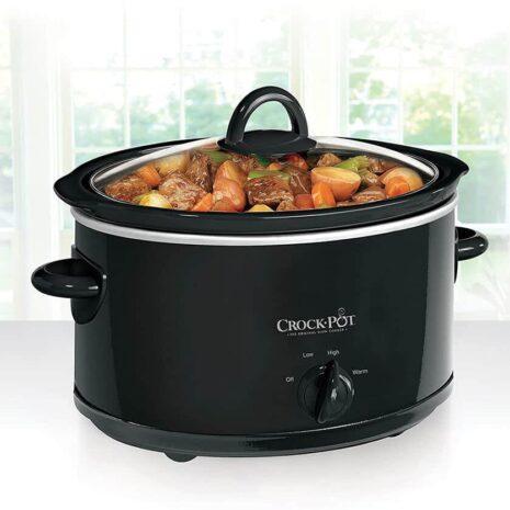 Crock-Pot Manual 7 Qt Oval Slow Cooker - Black