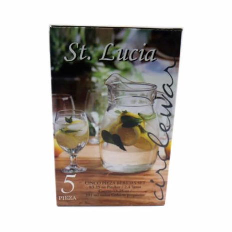 St Lucia 5 pc glass set