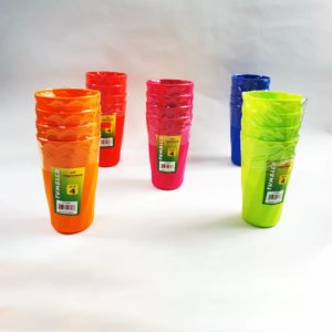 Princware set of 4 tumblers, assorted colors