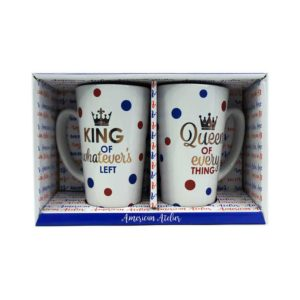 American Atelier Coffee Mug Set, King and Queen