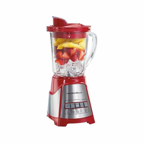 Hamilton Beach Blender with 5 Cup Glass Jar and 3-Cup Chopper - Red3