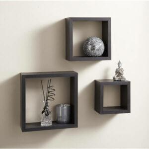 3 Cube Shelves - Black