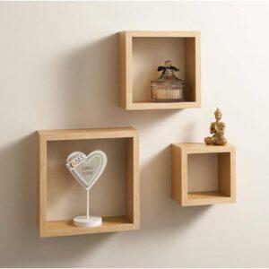 3 Cube Shelves, Sodom Oak