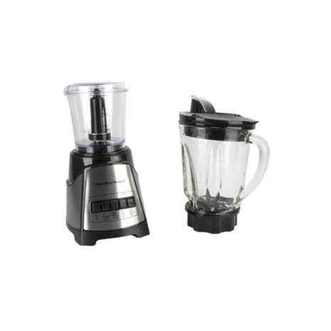 Hamilton Beach Blender with 5 Cup Glass Jar and 3-Cup Chopper - Red2