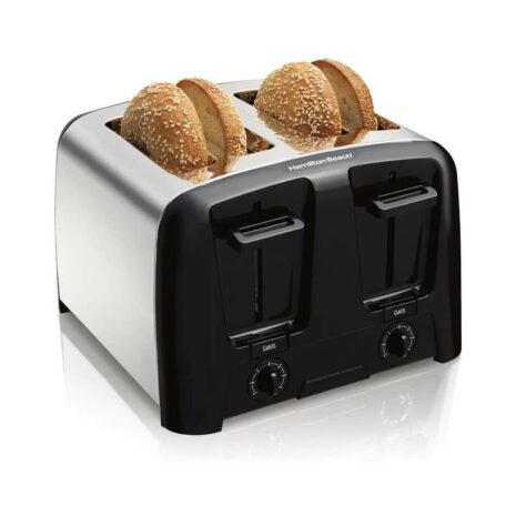 Hamilton-Beach 4 Slice Toaster, Chrome/Black