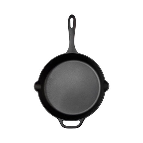"Victoria Cast Iron 12"" Skillet Fry Pan - Black"