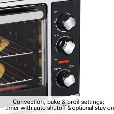 Hamilton Beach Countertop Oven with Convection and Rotisserie6