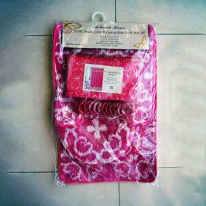 Mohawk Home 16pc Multi Colour Polypropylene Bath Mat, Pink