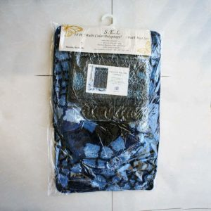 Mohawk Home 16pc Multi Colour Polypropylene Bath Mat, Navy blue