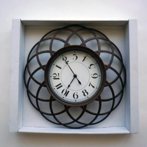 "Analog Clock 16"" - Brown"