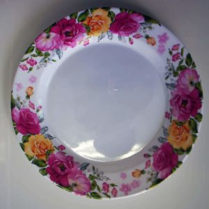 Flowered Plate Pink