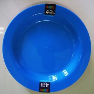 Lotus Home Collection 4pc Plastic Plate Set