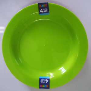 Lotus Home Collection 4pc Plastic Plate Set Green