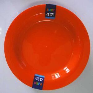 Lotus Home Collection 4pc Plastic Plate Set - Orange