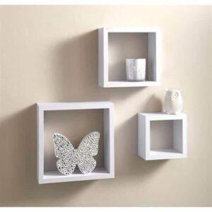 3 Cube Shelves - White