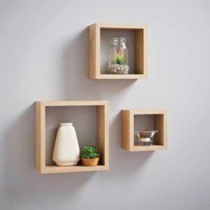 3 Cube Shelves, Beech