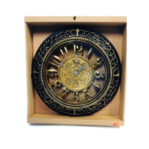 Brown and Gold Decorative Wall Clock - 20014290