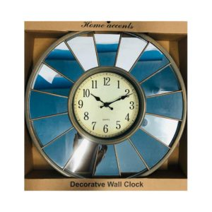 Silver Decorative Wall Clock with Mirrors