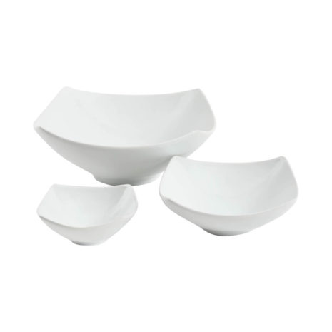 Gibson Elite Gracious Dining 3 Piece Oval Serving Bowl Set