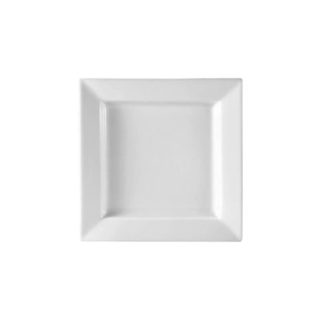 """White 10"""" Porcelain Thick Square Plate"""