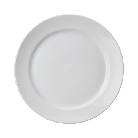 """White 12"""" Porcelain Thick Round Plate"""