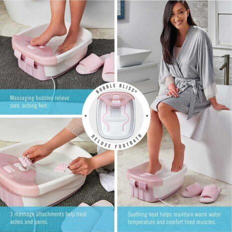 Homedics Bubble Bliss Deluxe Foot Spa, Heat Maintenance