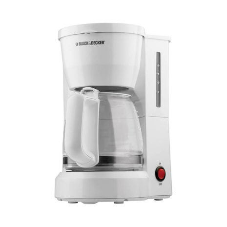 Black and Decker 5-Cup Coffee Maker - White