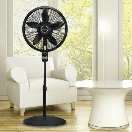 "Lasko 18 ""Pedestal Fan with Remote Control - Black"
