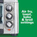 Hamilton Beach Sure-Crisp Air Fry Toaster Oven, 6-Slice Capacity, Stainless Steel
