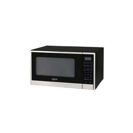 Genie 1.1cft Microwave - Black and Stainless Steel