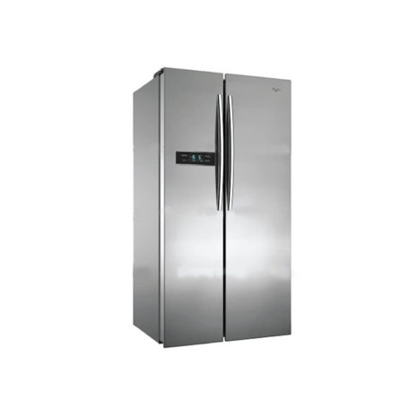 Whirlpool 19cft Side-by-Side Fridge, Frost Free, Tropicalized - Stainless Steel
