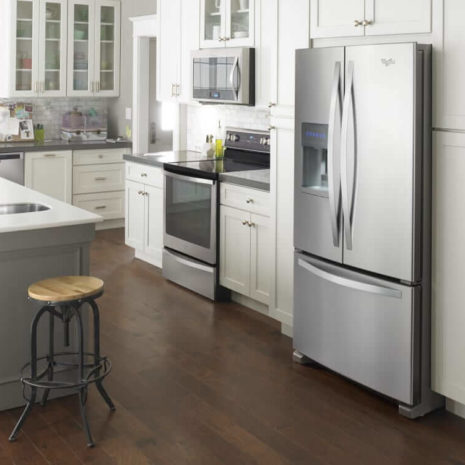 Whirlpool 25cft French Door Fridge with Dispenser, Frost Free - Stainless Steel