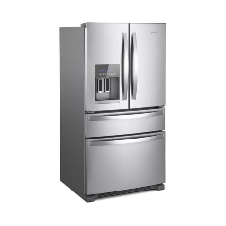 Whirlpool 25cft Side-by-Side French Door Frost Free, Fridge - Stainless Steel