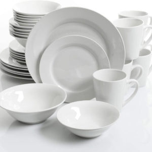 Gibson Home Noble Court Dinner Set 30 Piece - White