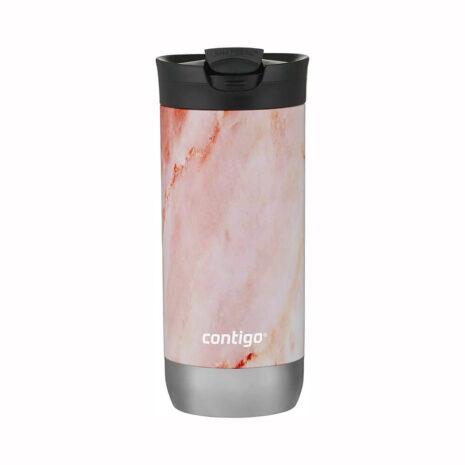 Contigo 16oz Stainless Steel Travel Mug with SNAPSEAL - Rose Quartz