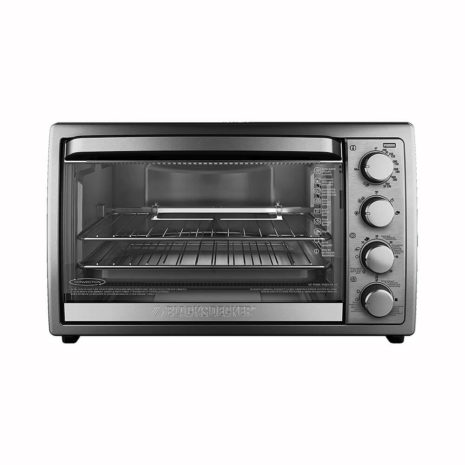 Black and Decker Air Fry and Toaster Oven with Rotisserie - Silver
