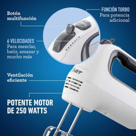 Oster 6 Speed Turbo Hand Mixer - White